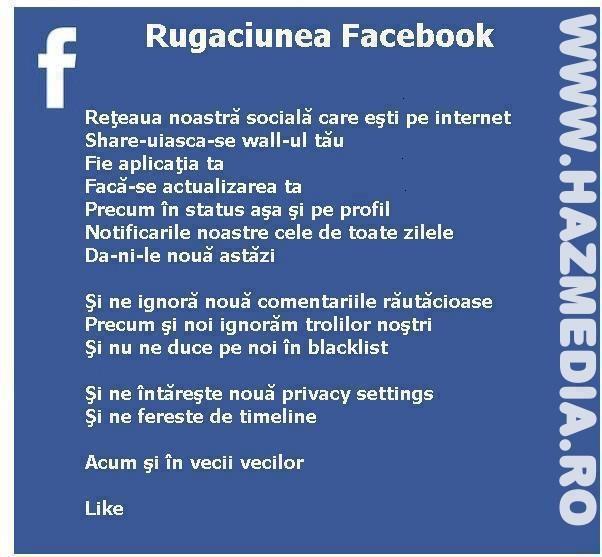 Rugăciunea Facebook
