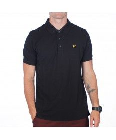 Mens Lyle & Scott True Black Short Sleeve Polo Shirt