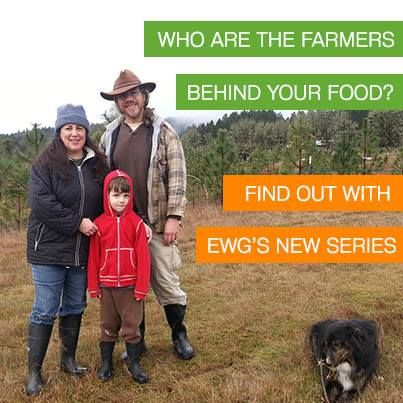 WHO ARE THE FARMERS BEHIND YOUR FOOD? Find out with EWG's new series.   We want to reconnect you with the way your food is grown!  We think these stories of American farmers – and how they grow your food - will change the way you look at your next meal.   LIKE if you support farms that grow healthy food and help protect the environment!