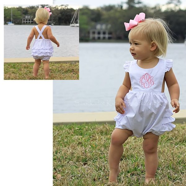 2/19/2013  White Ruffle Bubble --- oh my goodness this is the cutest thing ever!!! monogram!
