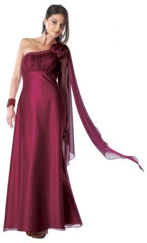 Vestido de noche largo color vino. www.vestidosmx.com ...