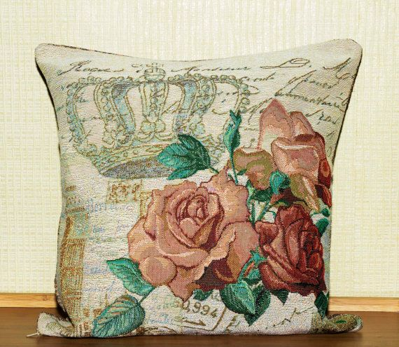 Pillow Cover Decorative Pillow Cover Pillow by PoppyVintageCorner