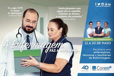 """♥ Coren-SP lança campanha de valorização da classe para marcar """"Semana da Enfermagem 2016"""" ♥  http://paulabarrozo.blogspot.com.br/2016/05/coren-sp-lanca-campanha-de-valorizacao.html"""
