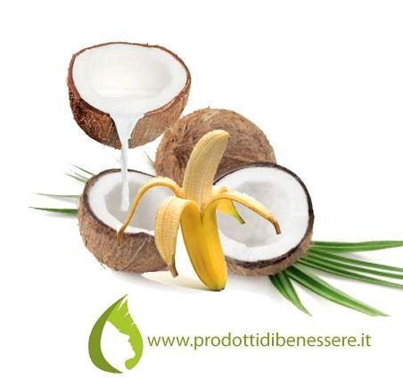 MASCHERA PER I CAPELLI AL COCCO 1/2 banane frullate ( a seconda della lunghezza dei capelli) 50 ml latte di Cocco 3 cucchiai Olio di Cocco Miscelare, applicare e lasciare agire per 30 minuti.