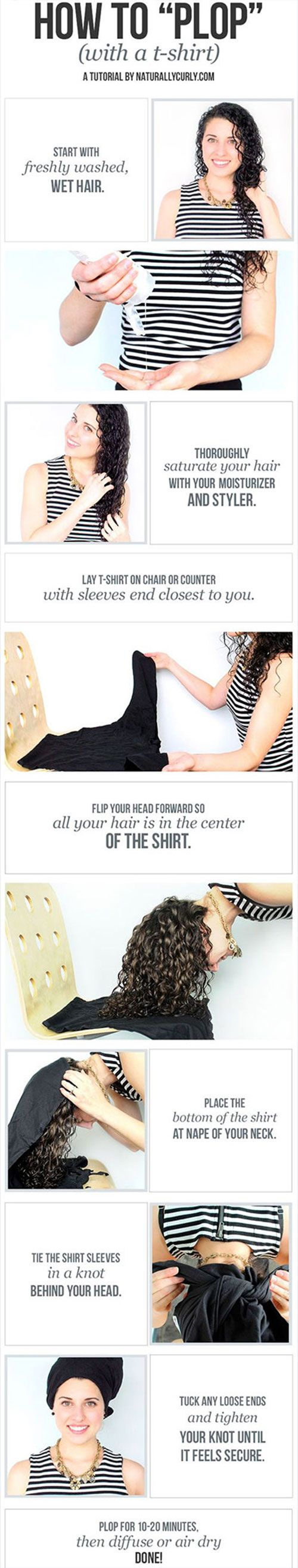 easy tips for girls with frizzy/curly hair
