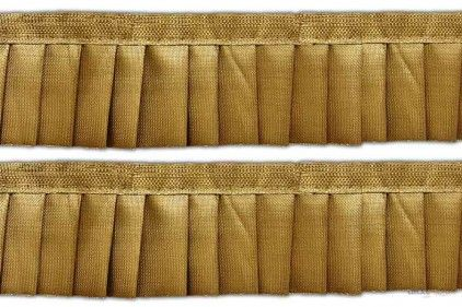 This Pleated Ribbon ( Pleated Ribbon ) comes with Sequence decoration widely used by Apparel & Clothing Industry. Its product code is: 002060 Price: Rs270.00 / 9 Meter Roll@ www.lacxo.com