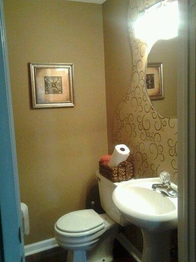 Beautiful half bath bathroom decor pinterest for Half bathroom ideas pinterest