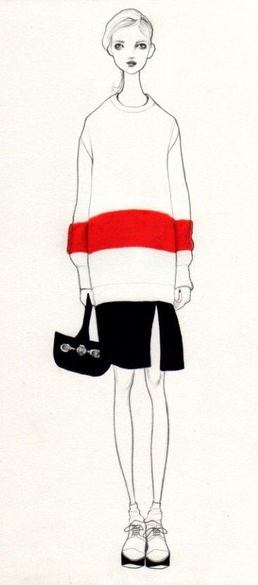 Mode Illustration, Fashion Illustration, Mode, Zeichnung, Sketch,