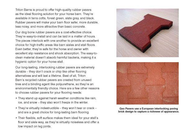 rubberized brick pavers