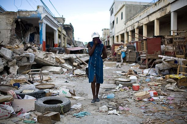 Catastrophe. Earthquake in Haiti. Photograph by Timothy Fadek / Polaris for TIME. The Haitian government estimates that 230,000 people died in the disaster; Another 1,000,000 were made homeless.