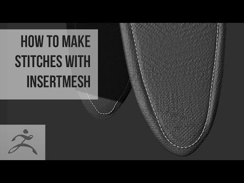 How to make stitches with InsertMesh Brush | Tutorial (Zbrush) - YouTube