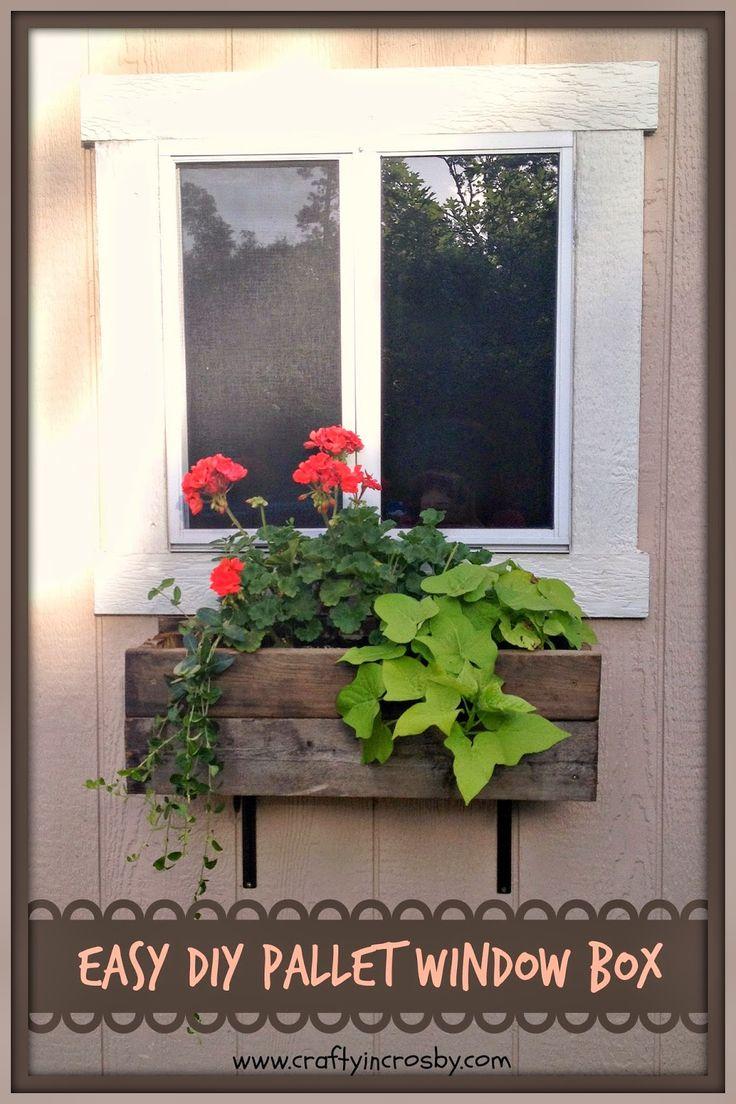 Diy Tuffshed Garden Shed Window Box Pallet Diy In 2019 400 x 300