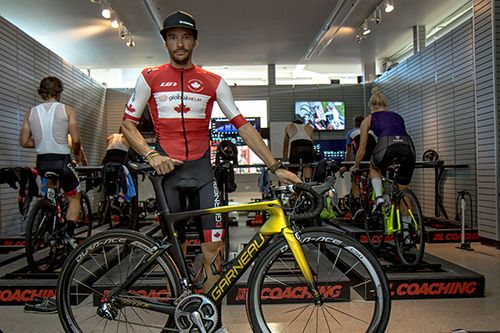 """""""I go there to help young riders of the Canadian team realize their dreams, and if I've got great legs on that day, anything can happen. Anything's possible when you follow your instinct and race with panache. That's the beauty of cycling."""" #GPCQM #LiveYourDream"""