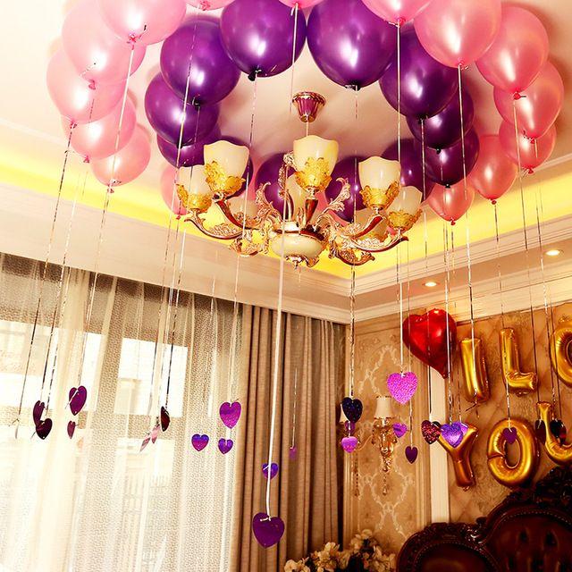100ピース/パック10インチヘリウム空気風船ラテックス多色真珠バルーンハッピー誕生日パーティー結婚式の装飾空気ボール