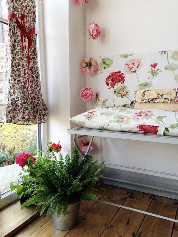 Geranium Fabric and floral Dress  Laura Ashley