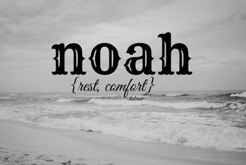 Noah// rest, comfort// Christian baby boy name art