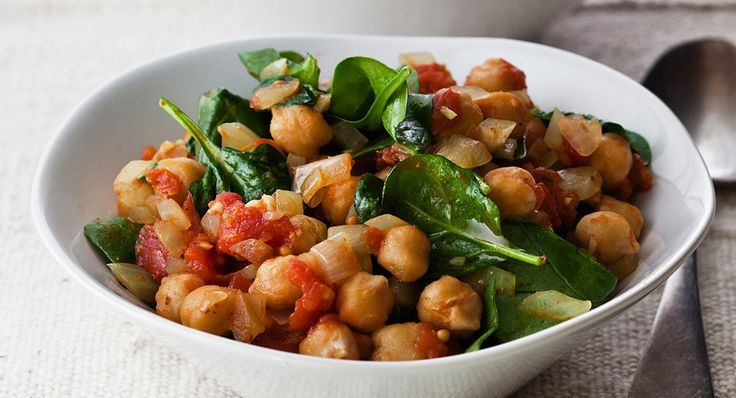 Roasted Chickpeas and Spinach Recipe