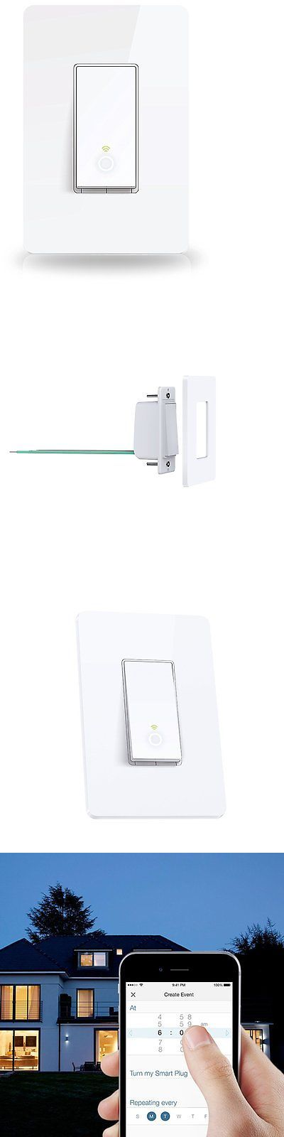 Controls and Touchscreens: Tp-Link Hs200 Smart Wifi Remote Light Switch, Single Pole Wireless Light Switch BUY IT NOW ONLY: $41.96