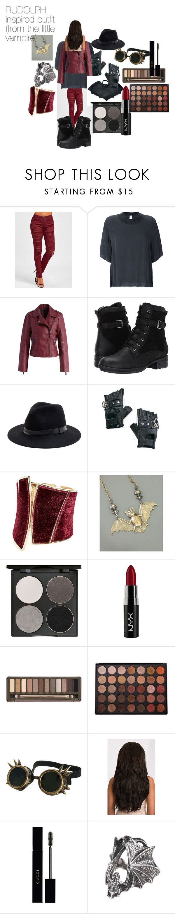 """RUDOLPH INSPIRED OUTFIT"" by tori-camilleri on Polyvore featuring KristenseN du Nord, Chicwish, Blondo, Sole Society, Funk Plus, GUESS by Marciano, Gorgeous Cosmetics, NYX, Urban Decay and Morphe"