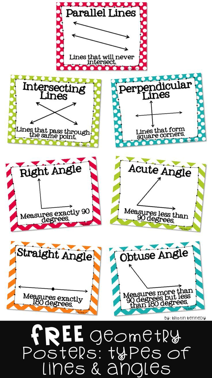 Lines And Angles Posters Line Math Teaching Geometry Angles Math [ 1308 x 736 Pixel ]