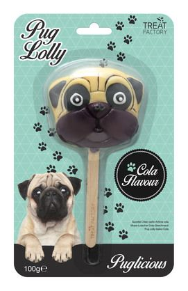Unleash the lolly! This loveable Pug tastes delicious and won't give you the run-around when it's  time to sink your teeth in. From Voodle.co.nz
