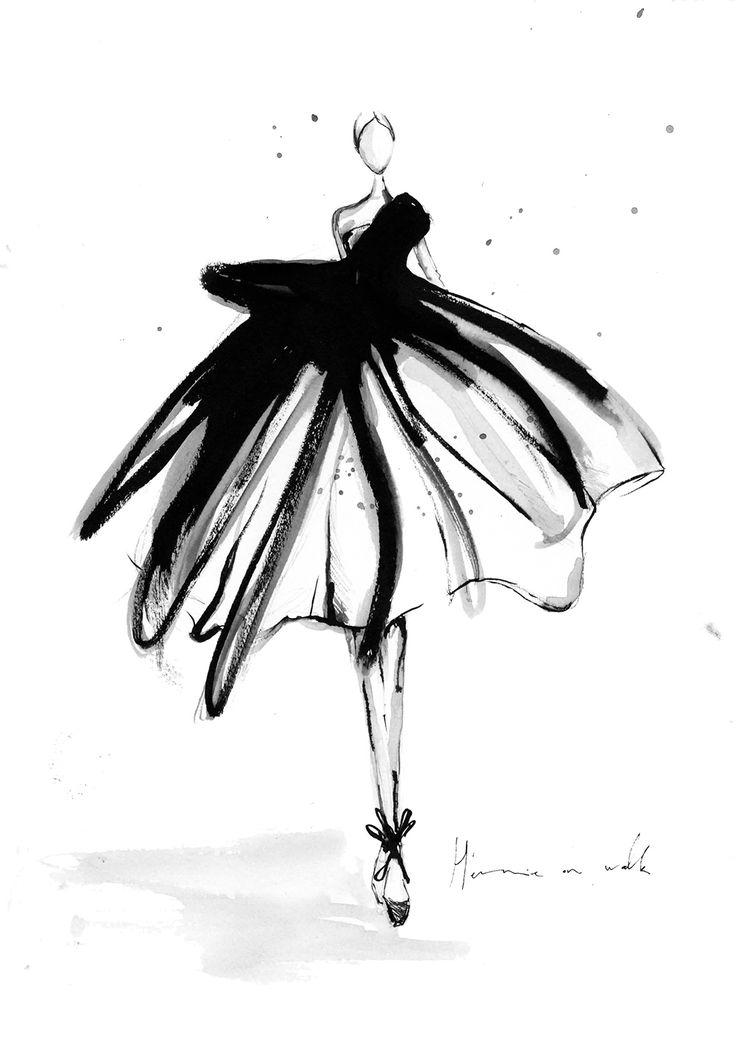 Ich zeige euch, welche 3 Schritte ich verwende, um meine Mode Illustrationen mit Tusche herzustellen - und wie euch das auch gelingt! Schaut vorbei.