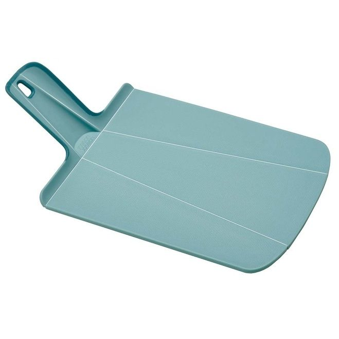 Joseph Joseph Chop2Pot Foldable Plastic Cutting Board & Kitchen Prep Mat, Mini, Light Blue
