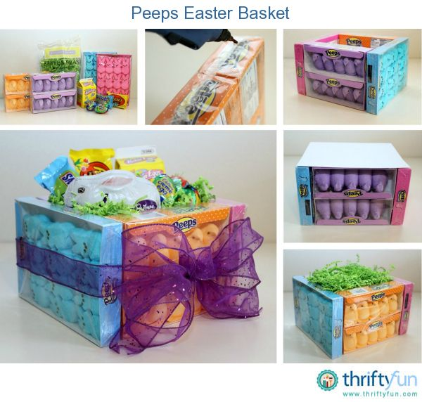 125 best easter crafts images on pinterest easter crafts this is a guide about making a peeps easter basket this sweet easter basket is negle Image collections