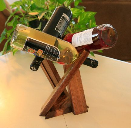 Simple, yet quirky wine bottle rack/ display