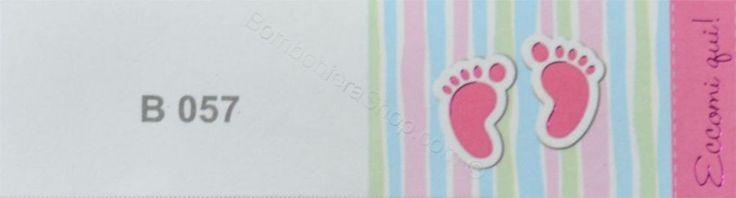 20 Bigliettini interno bomboniera simpatico per nascita bambina con impronte dei piedi