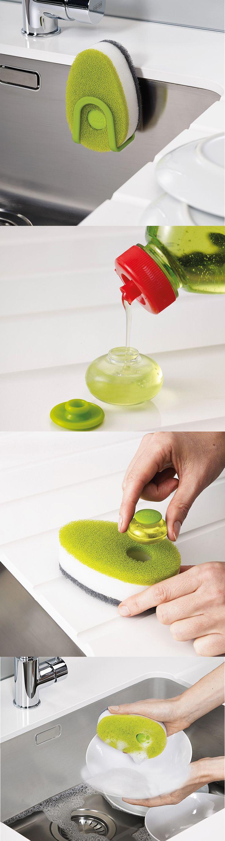 295 Kč Houbičky na mytí nádobí s plnitelnou kapsulí na saponát