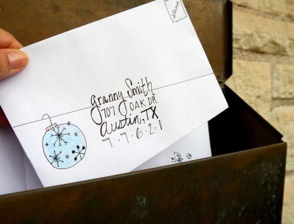 DIY holiday envelopes