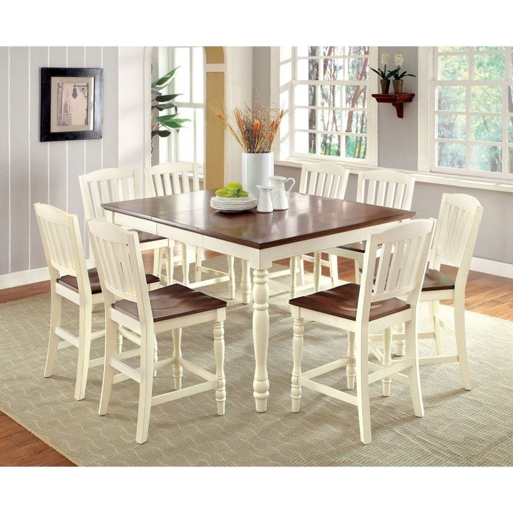 Furniture of America Besette Cottage Counter Height Dining Table - IDF-3216PT