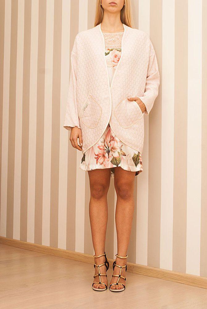 Cardigan Cotone-Lino Rosa Pallido Taglia S M Maison 39 CS007