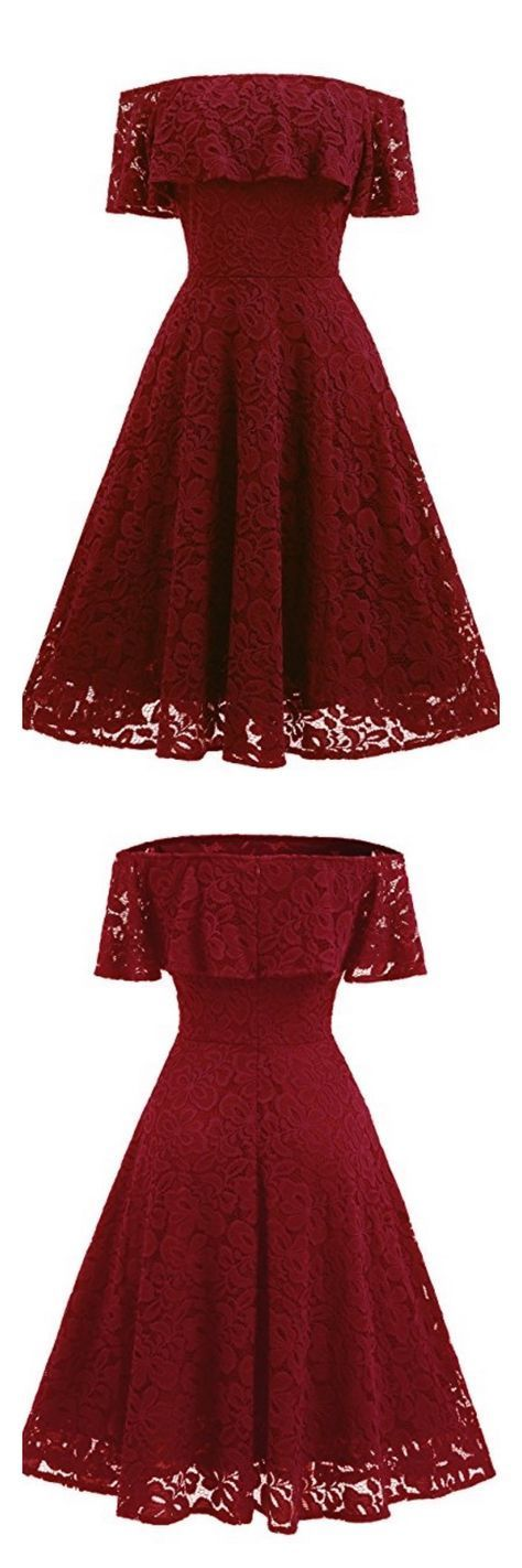 A-line Long sleeve Off-the-Shoulder Grace Homecoming Dresses ASD2566 A-line homecoming dresses,burgundy  prom dresses,sexy lace homecoming dresses