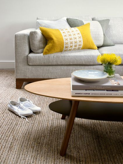 Yellow and Grey Combination - Contemporary Living room by Amory Brown