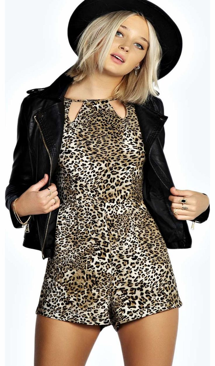 boohoo Carly Animal Printed Playsuit - multi azz17809 Unleash your inner fashion animal in this wild leopard print playsuit . A loud piece for late night partying, style it with platform heels , a PU biker jacket and dramatic dark berry lip . http://www.comparestoreprices.co.uk/womens-clothes/boohoo-carly-animal-printed-playsuit--multi-azz17809.asp