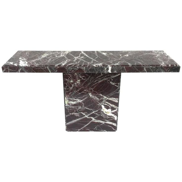 Italian Marble Console Table | From a unique collection of antique and modern console tables at https://www.1stdibs.com/furniture/tables/console-tables/