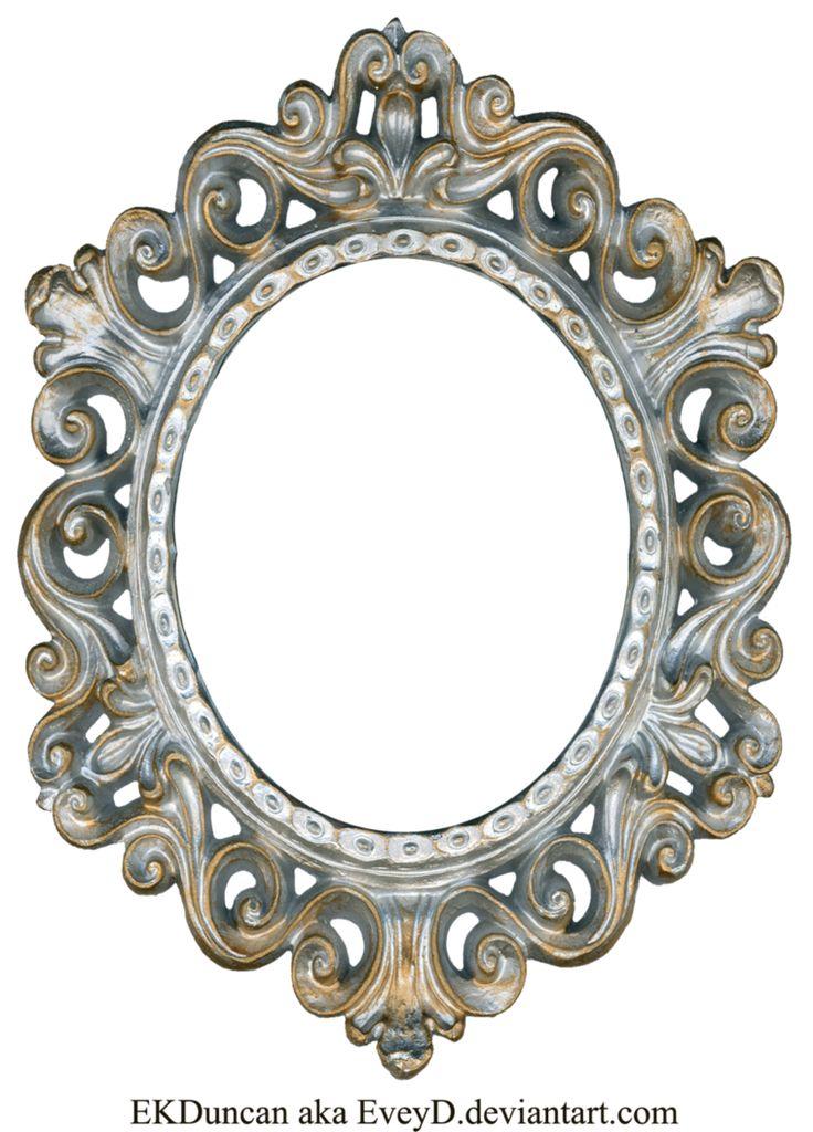 Vintage Silver and Gold Frame - Oval by EveyD on DeviantArt