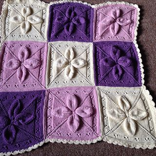 Lucky 4 Leaf Afghan 12 Quot Block Free Pattern Knitting