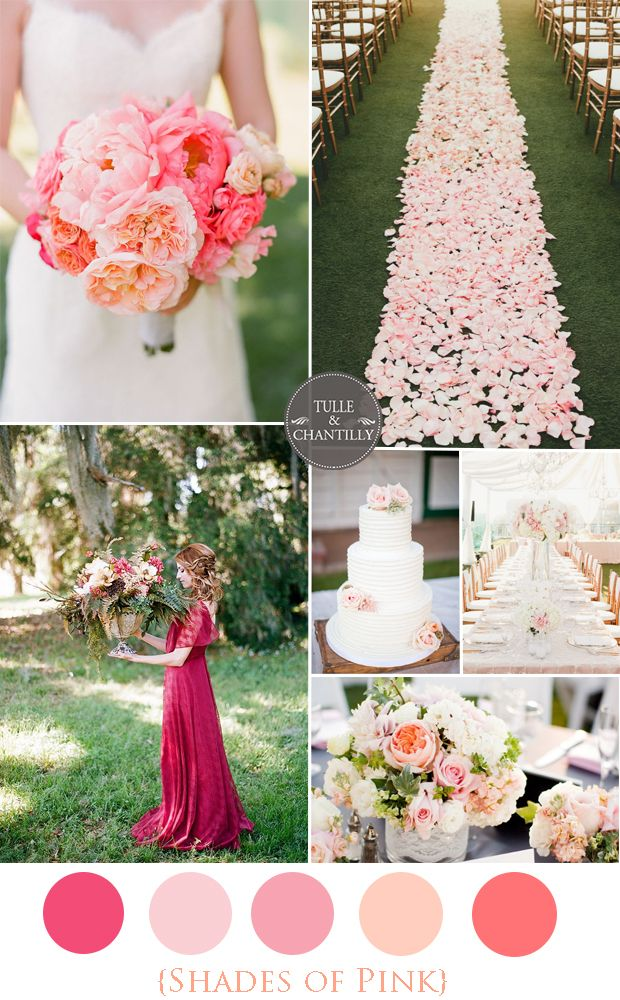 Top 5 Shades of Pink Wedding Color Ideas and Inspiration
