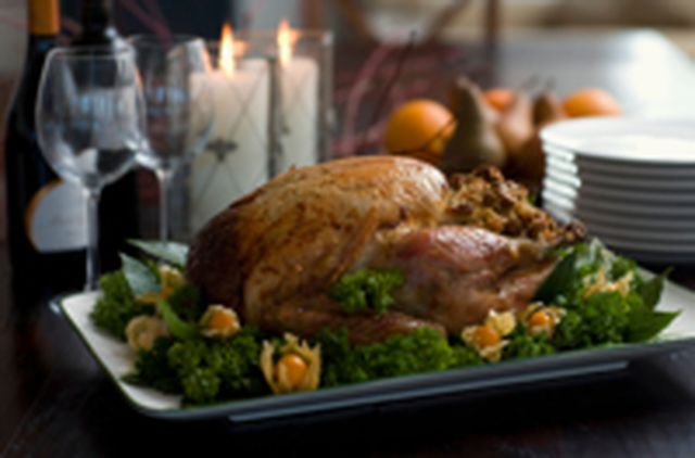 Christmas Roast Turkey with Sage and Onion Stuffing Recipe: Christmas Roast Turkey