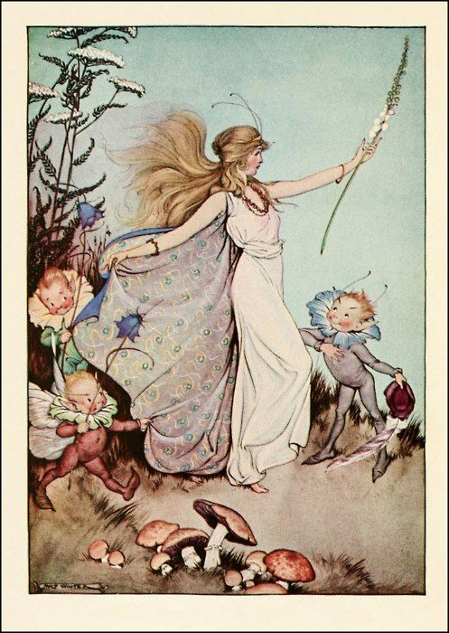 This is Mab, the Mistress Fairy - Milo Winter 1918