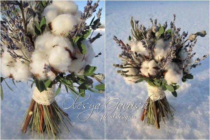 Олеся Гавриш - свадебная флористика и декор - Зимний букет невесты с нотками прованса