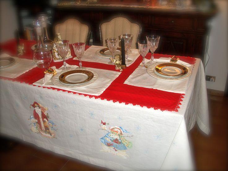 Le porcellane di Morena: Natale - Christmas - Noel Hand painted christmas dinnerware - dish - ornaments - fabric