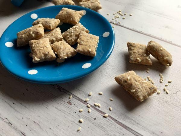 Mákos-szezámos kréker Szafi Free világos kenyérlisztből - Sós sütik, pogácsák - Gluténmentesen