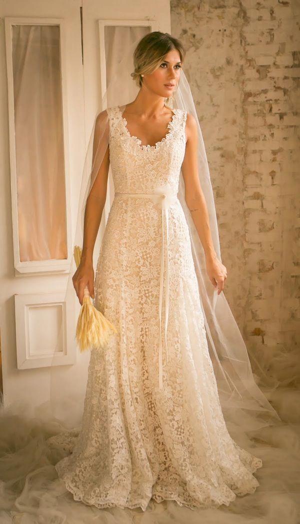 Vestido de Noiva | Noiva nas Nuvens - Coleção Blossom - Vestida de Noiva | Blog de Casamento por Fernanda Floret | Noiva nas nuvens, Vestidos de noiva rustico, Vestido de casamento noiva