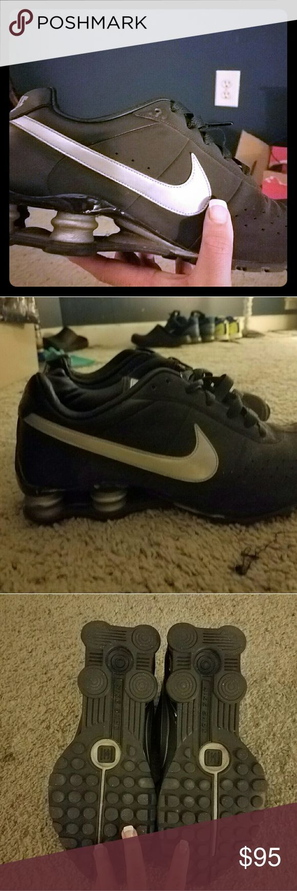 Nike mens shox classic ll Mens nike shox classic ll. Size 11.  Worn less than 5 times, theyre not the right size.  So they're in perfect condition. 4 Shox Box Design Classic Runner & Cross Trainer Leather Construction Nike Shoes Athletic Shoes