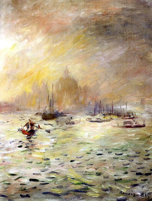 bofransson:    Pierre Auguste Renoir - Venice - Fog