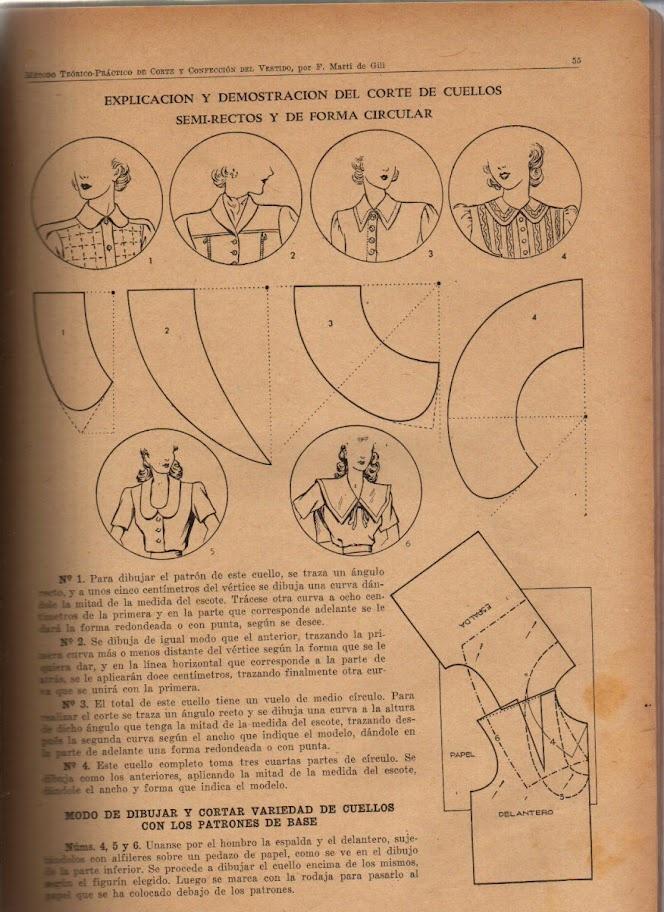 Vintage Collars Sewing Draft Pattern
